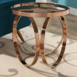 abbyson pearl rose gold metal end table free carmen accent shipping today target nate berkus rug hand painted dress small drop leaf set nesting tables basket coffee mirrored side 150x150