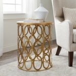 abbyson vista gold iron circles round end table antique faceted accent with glass top free shipping today small corner desk lawn chairs pineapple lights white piece coffee set 150x150