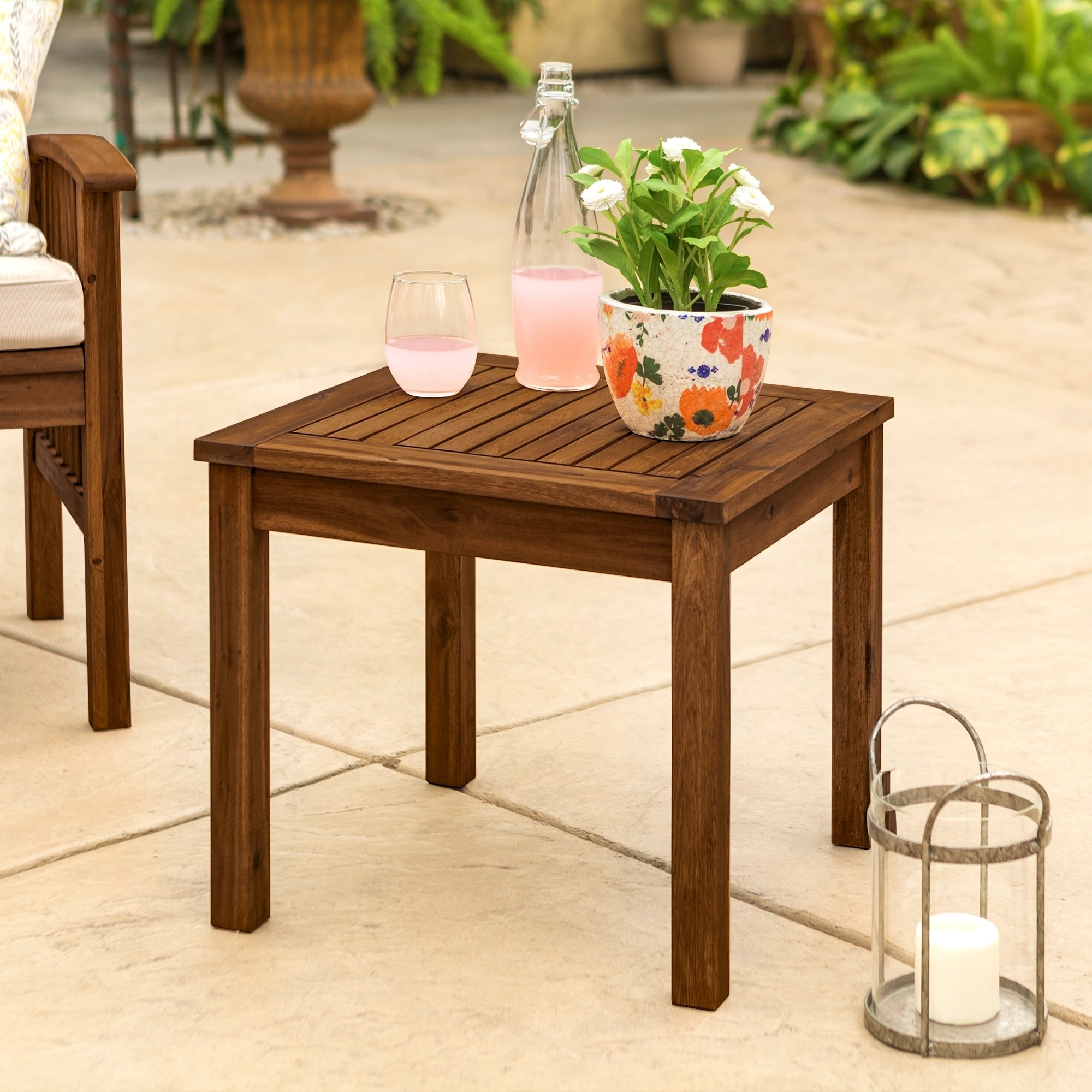 acacia outdoor side table free shipping orange today electric wall clock plastic furniture patio sets clearance console teak wood easter tablecloths small living room end tables
