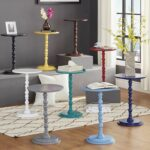 acapella sky blue round accent end table inspire white products for nursery cordless lamps living room red and black coffee outdoor chairs natural wood dining asian style most 150x150