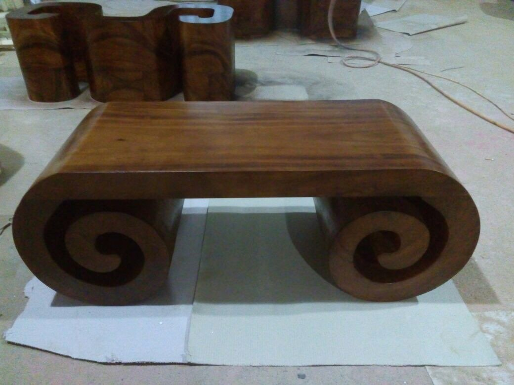 accent artisan one piece solid wood scroll coffee table for nos natura eco luxury furniture toronto handmade tree master craftsmanship west elm mini desk small bench target side