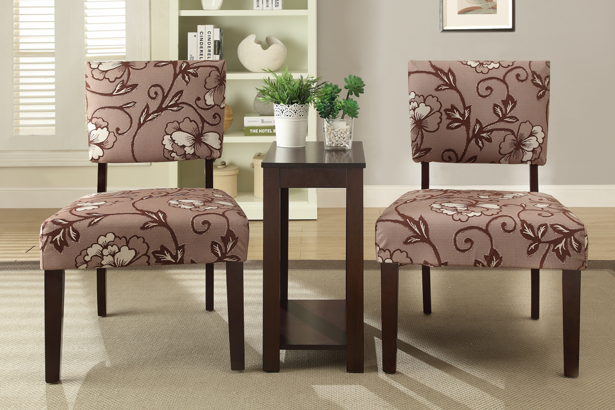 Accent Chair And Table Set Chantelle Piece Chairs Side