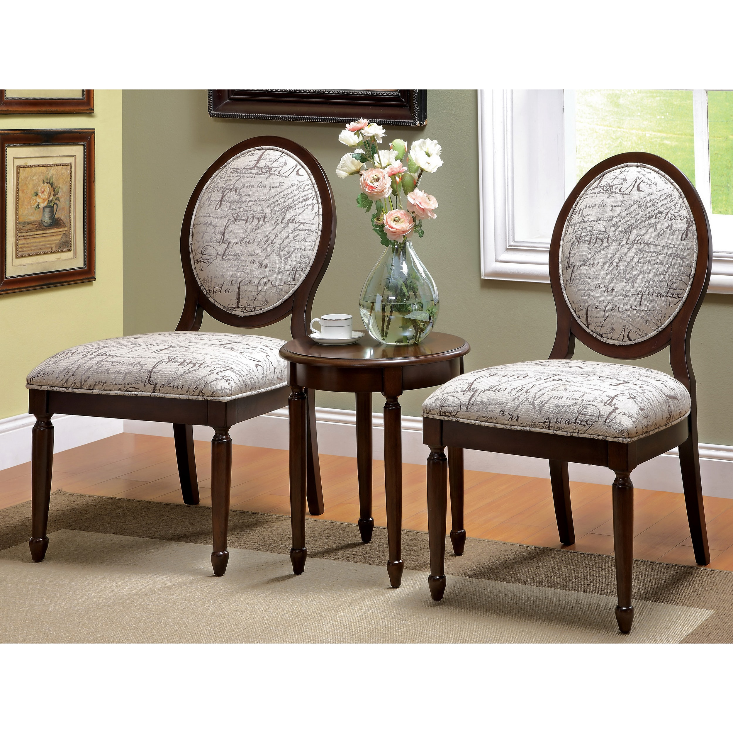 accent chair and table set chantelle piece furniture america milanie dark walnut avenue six view larger chairs furniturendecorcom decorative cordless lamps small tall coffee