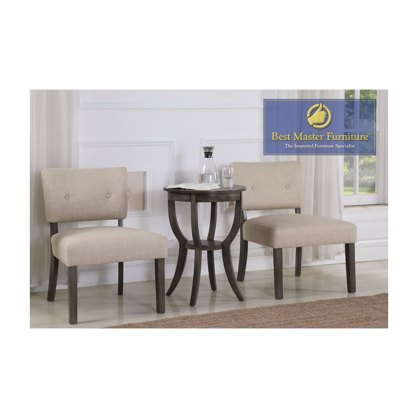 accent chair table set best master furniture piece and side over sofa arm mosaic bistro chairs ashley chaise concrete coffee end tables vintage white nightstand with charging
