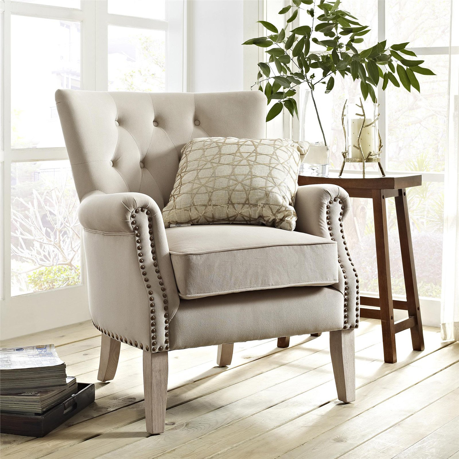 accent chairs living room occasional more master piece chair and table set better homes gardens rolled arm glass couch acrylic uplight lamps zinc trestle resin garden vita