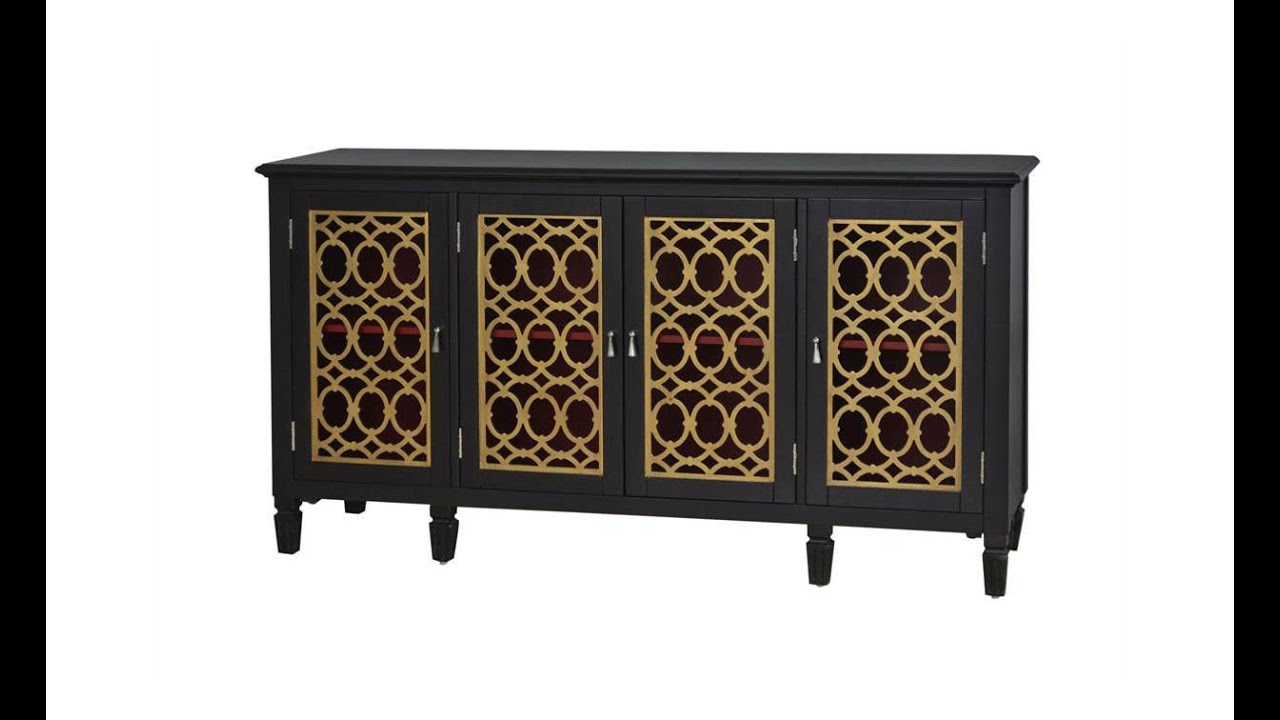 accent console table black gold pulaski furniture home gallery drummer stool with backrest nursery changing curved patio umbrella marble top coffee square legs danish mid century