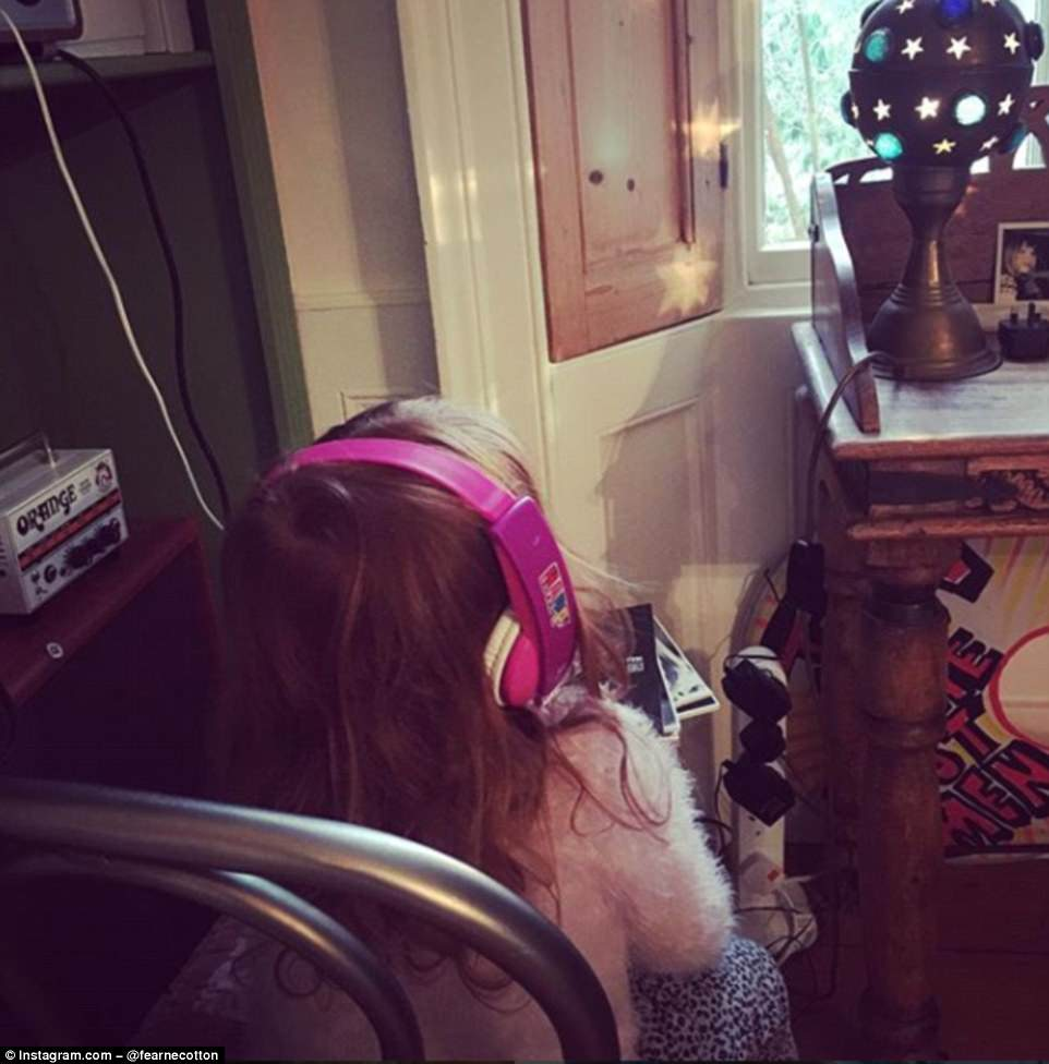 accent console table home decor gallery the couple daughter honey listens music corner her monarch hall dark taupe inside fearne cotton luxury london daily mail gold covers for