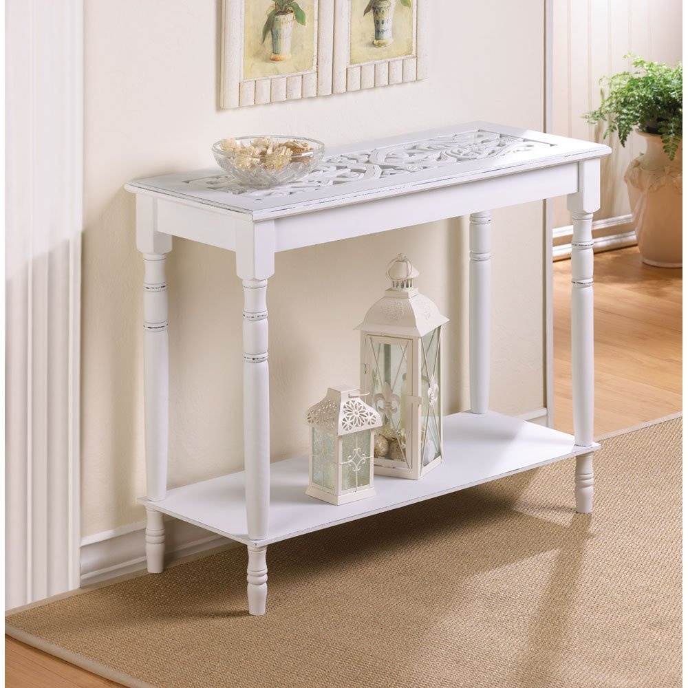 accent console tables white table get creative with victorian end height small furniture for spaces wine cube inch round plastic tablecloths pottery barn sofa covers glass coffee