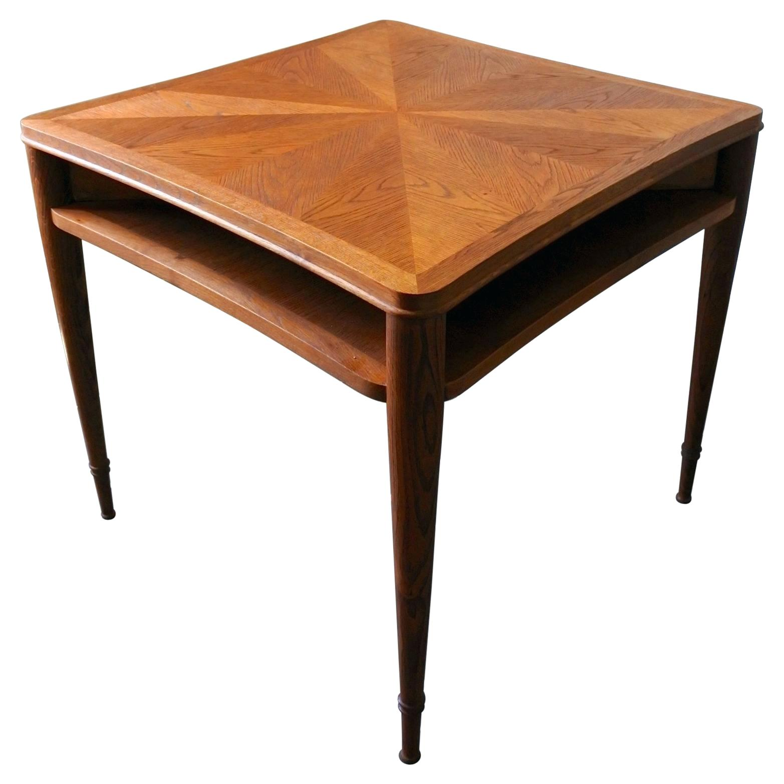 accent dining table matt lacquered oak wood coffee extra large sunburst marquetry for square light tables with drawer aged weathered round side antique ikea storage units lawn