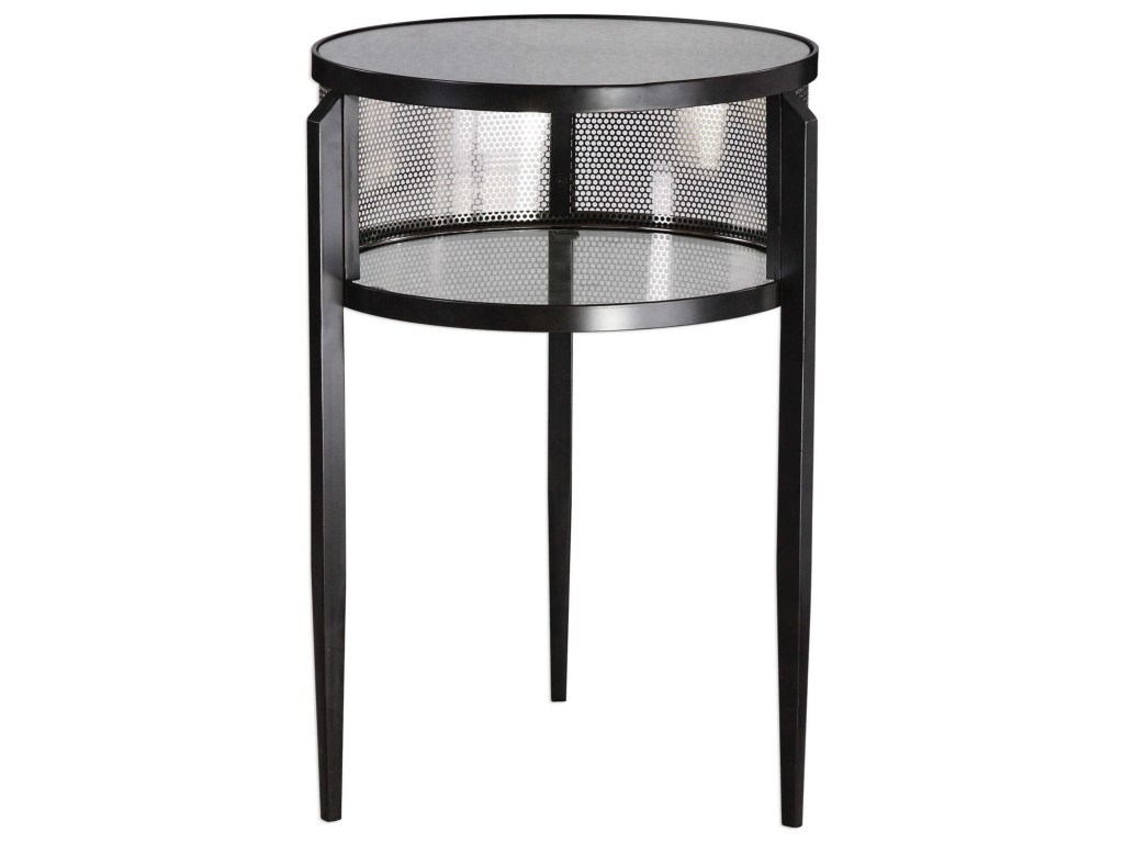 accent furniture gustav black iron table becker products uttermost color martel furnituregustav patio with umbrella hole best home goods dressers gallerie tablecloth measurements
