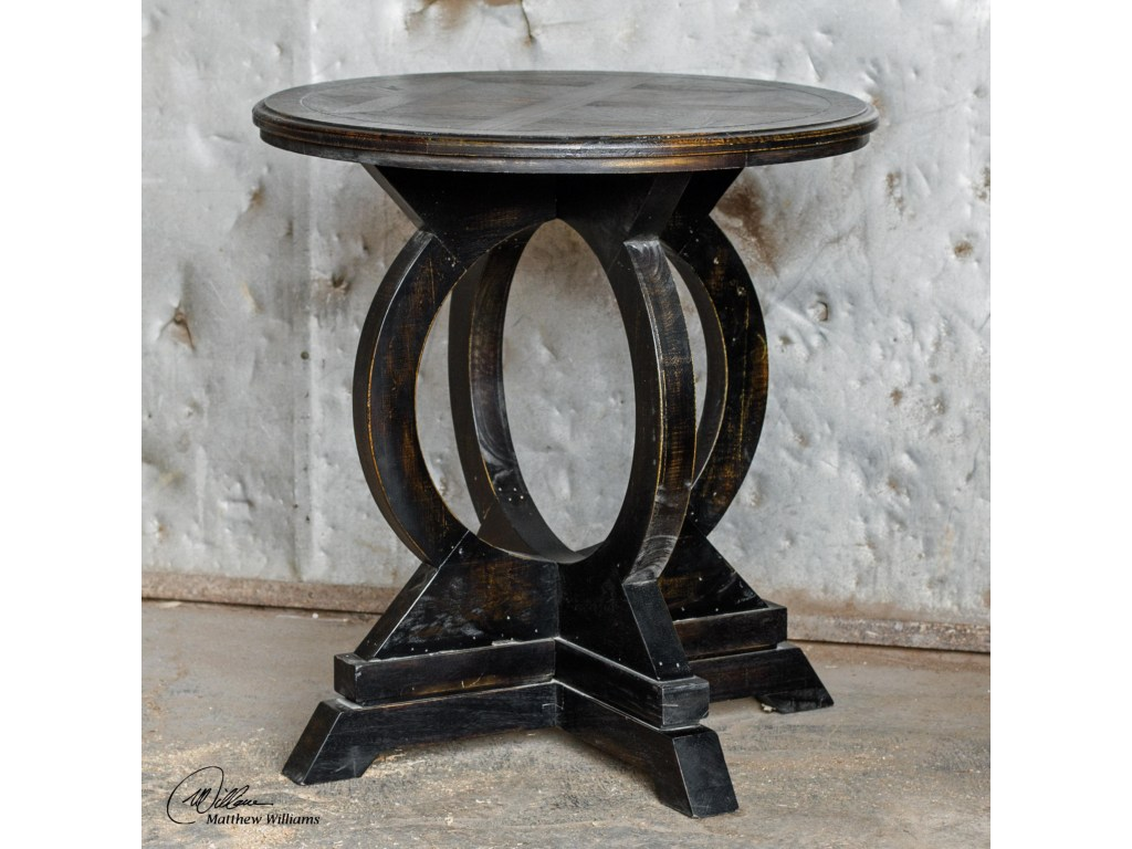 accent furniture occasional tables maiva black table products uttermost color tablesmaiva oval wood end outdoor seating sets clearance nautical style glass side small metal blue