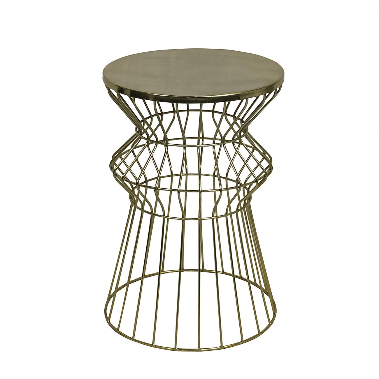 accent pieces peak event services wfrtsmdgo gold modwire side table wire brown wicker outdoor furniture low light houseplants white glass lamp round farmhouse chairs with arms