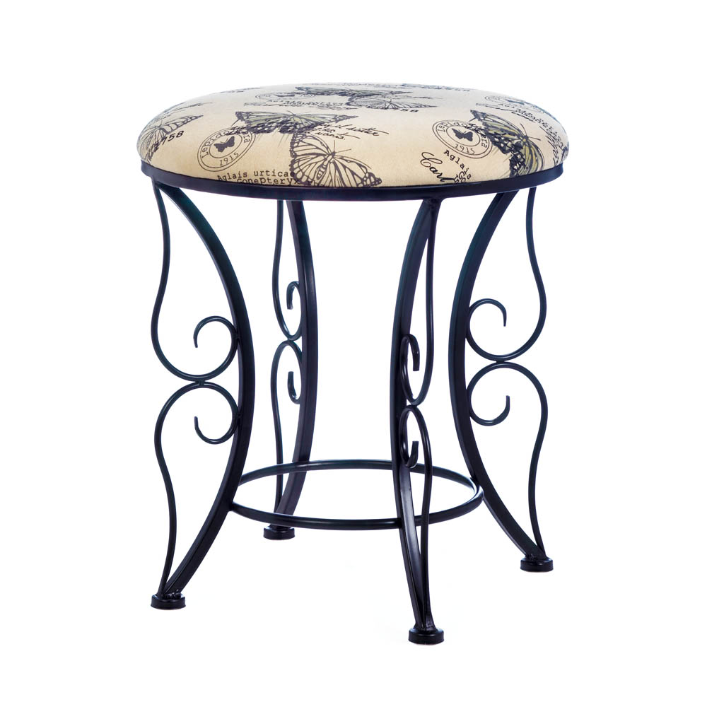 accent plus butterfly printed stool glass table loading coffee calgary bar furniture reading chair for bedroom drawer chest bedside lights shower curtains placemat round small