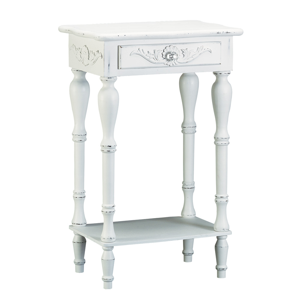 accent plus carved white side table telephone loading round christmas tablecloths outside covers folding tray clear lucite end tables art desk hobby lobby pottery barn gift