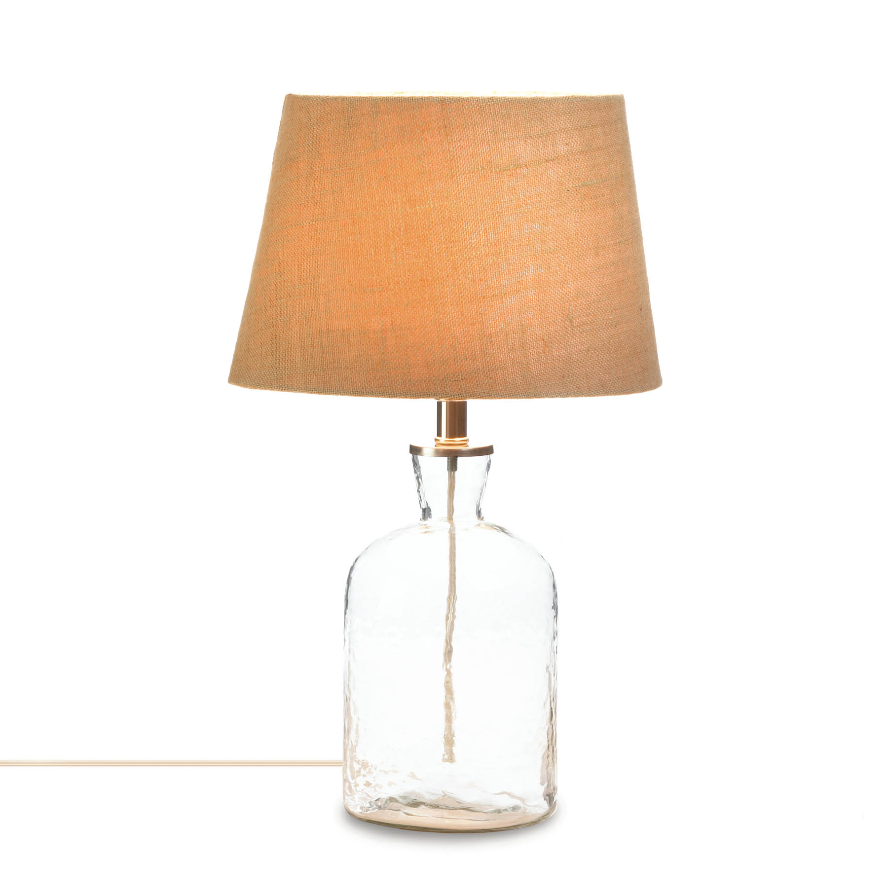 accent plus clear ripple glass bottle table lamp lamps loading narrow decorative over the couch ikea coffee industrial pub round drum side small retro person farm high bar and