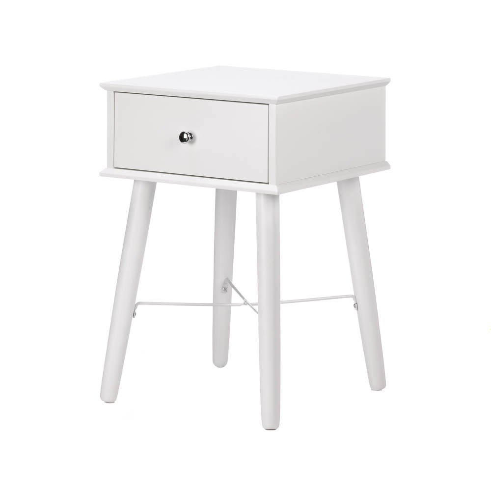 accent plus white lacquer side table mdf wood tables living room kitchen dining lamps pottery barn phone kitchenette furniture bedside stand industrial lamp wilcox acrylic snack