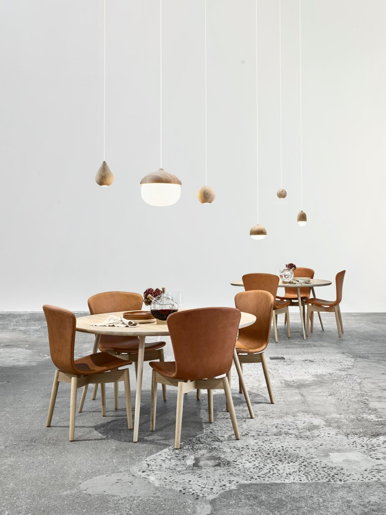 accent round dining table oak sirka grey stain mater design campaign master furniture the designed danish architect duo space copenhagen and combines drawer target home goods