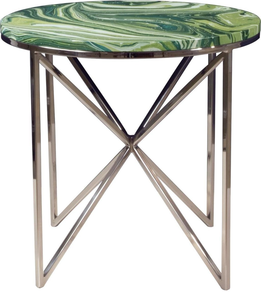 accent table alden parkes graffiti modern contemporary green swirl metal brand inch high end dark wood console with drawers clear and gold coffee grill cover round lucite patio