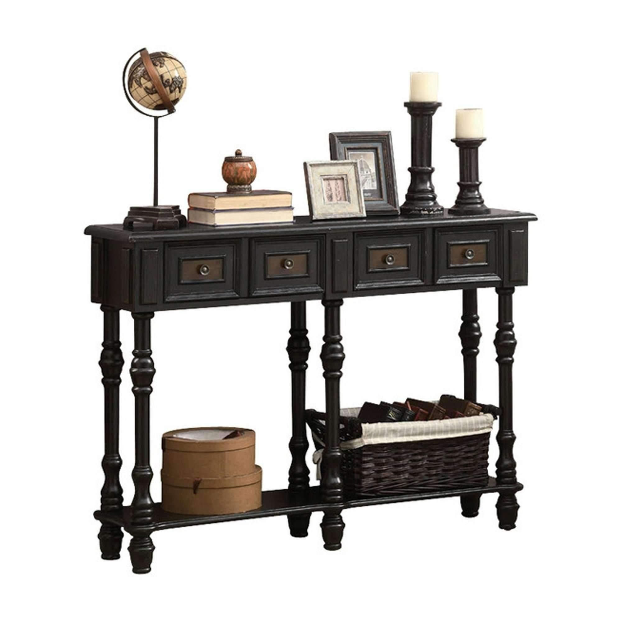 accent table antique black traditional style centre for drawing room pier one chair covers modern linens beautiful round tablecloths white marble top compaq seagrass coffee with