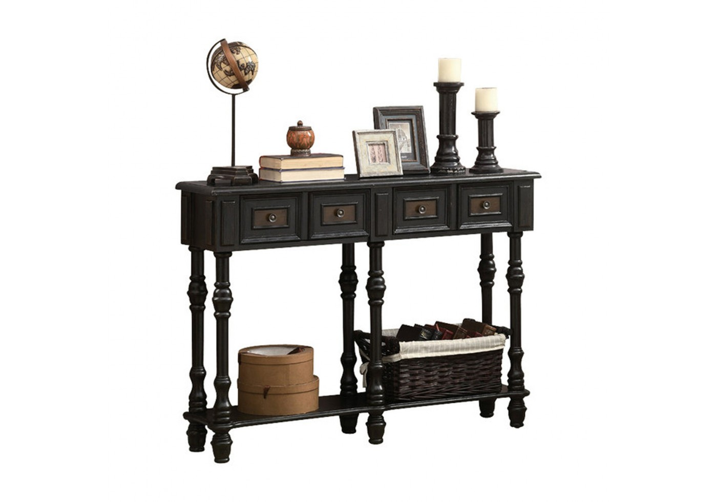 accent table antique black traditional style small round wooden sofa for space living room nate berkus marble battery operated bedside lights counter height dining set with