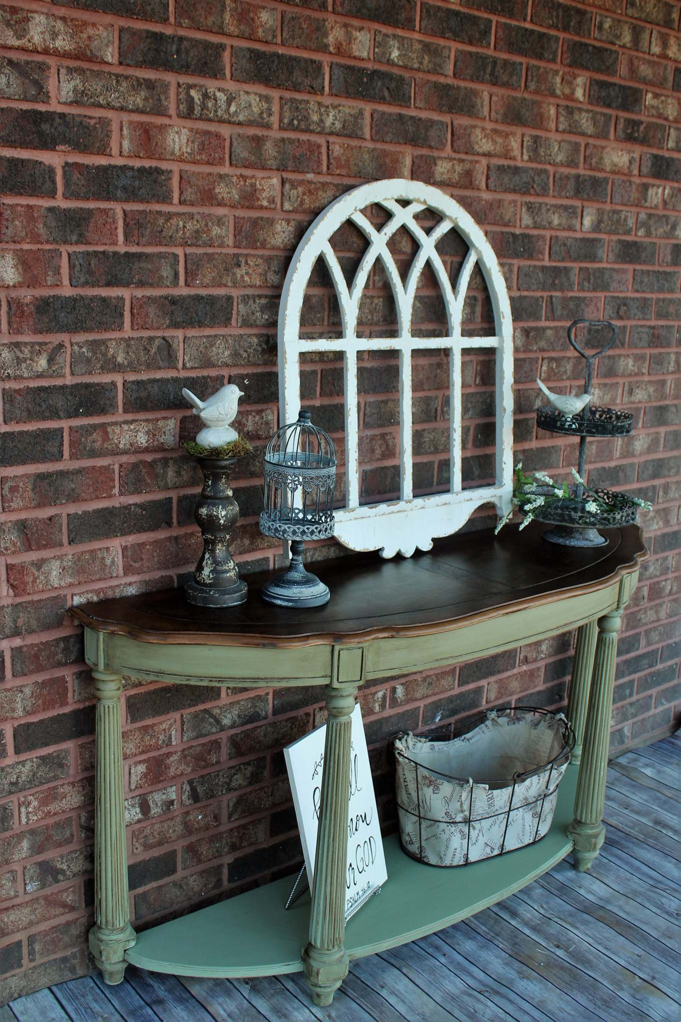 accent table bayberry green van brown general finishes scd chalk style paint mikayla restorations glaze effects metal design center small brass and glass coffee tables elegant