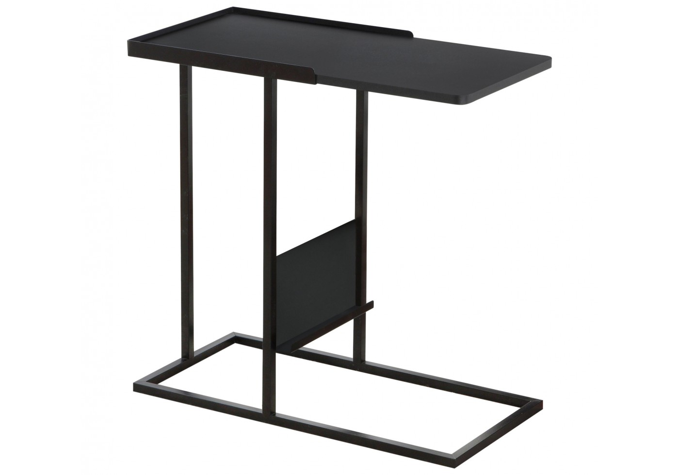 accent table black metal with magazine rack designer placemats and napkins modern outdoor oil rubbed bronze spray paint acrylic nightstand hampton bay furniture home goods