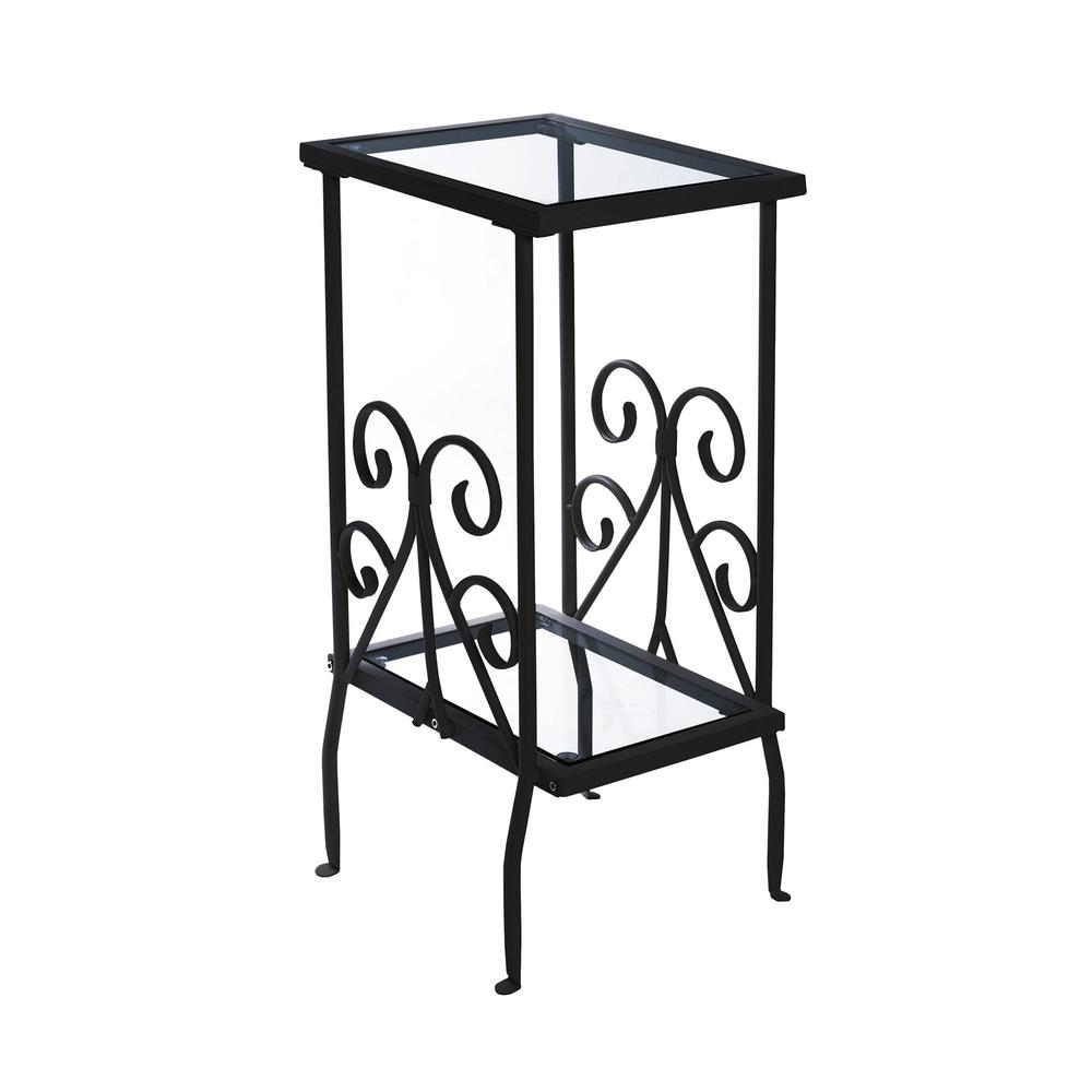 accent table black metal with tempered glass zebra chair round pedestal wood mirrored furniture trestle dining pine bedside tables frog drum hobby lobby coffee dog kennel end wall