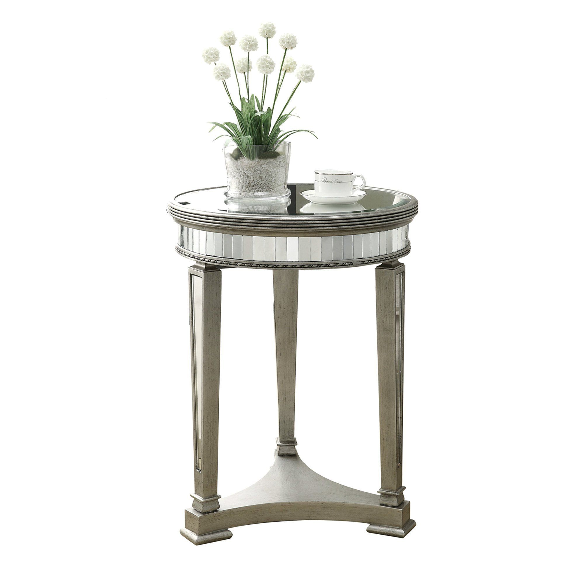 accent table brushed silver mirror products end tables built bench seat gray ikea dark glass coffee black and slate tile ashley furniture ott distressed wood mid modern new diy