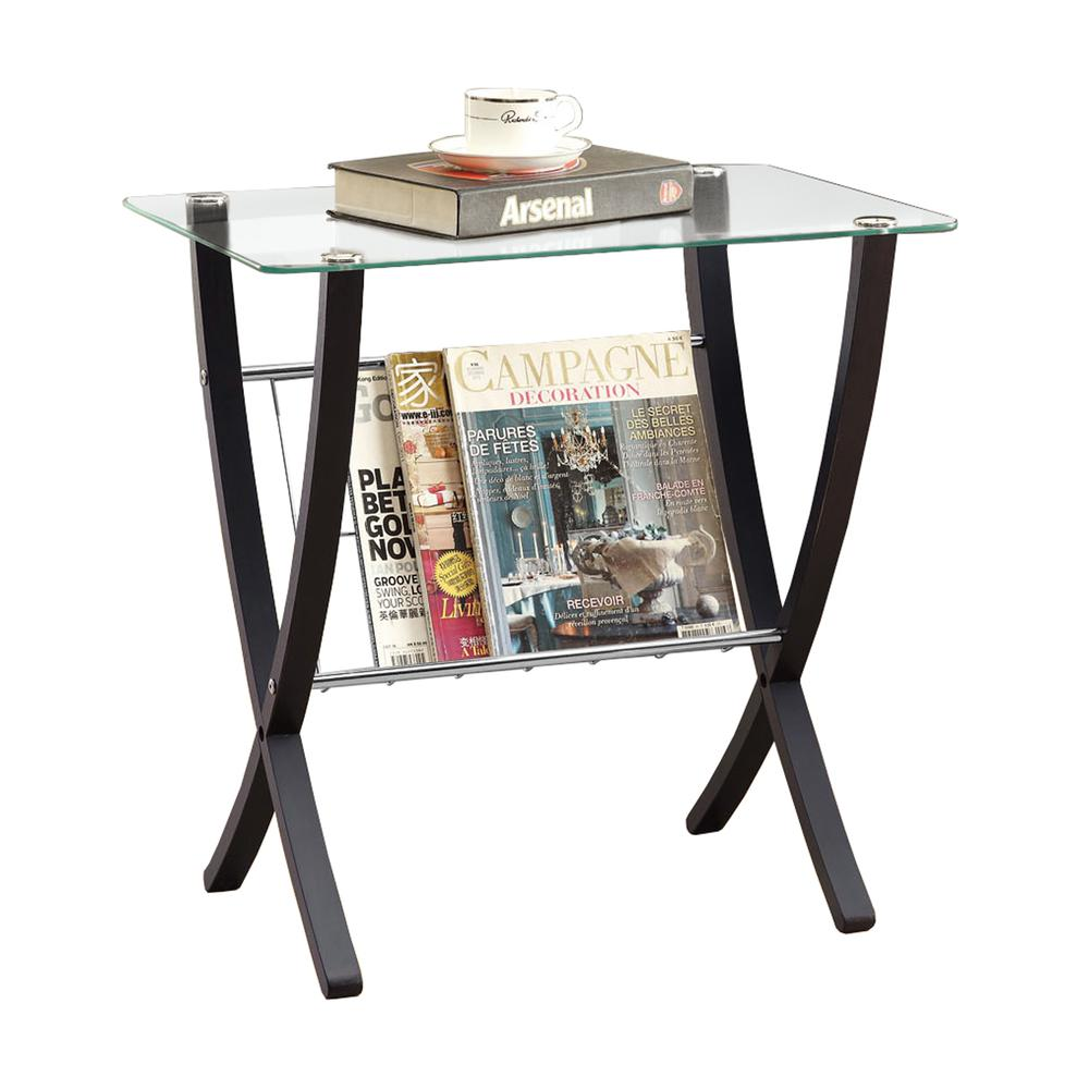 accent table cappuccino bentwood with tempered glass monarch edwards furniture frog rain drum navy coffee umbrella side lamps set round patio black acrylic marble top console
