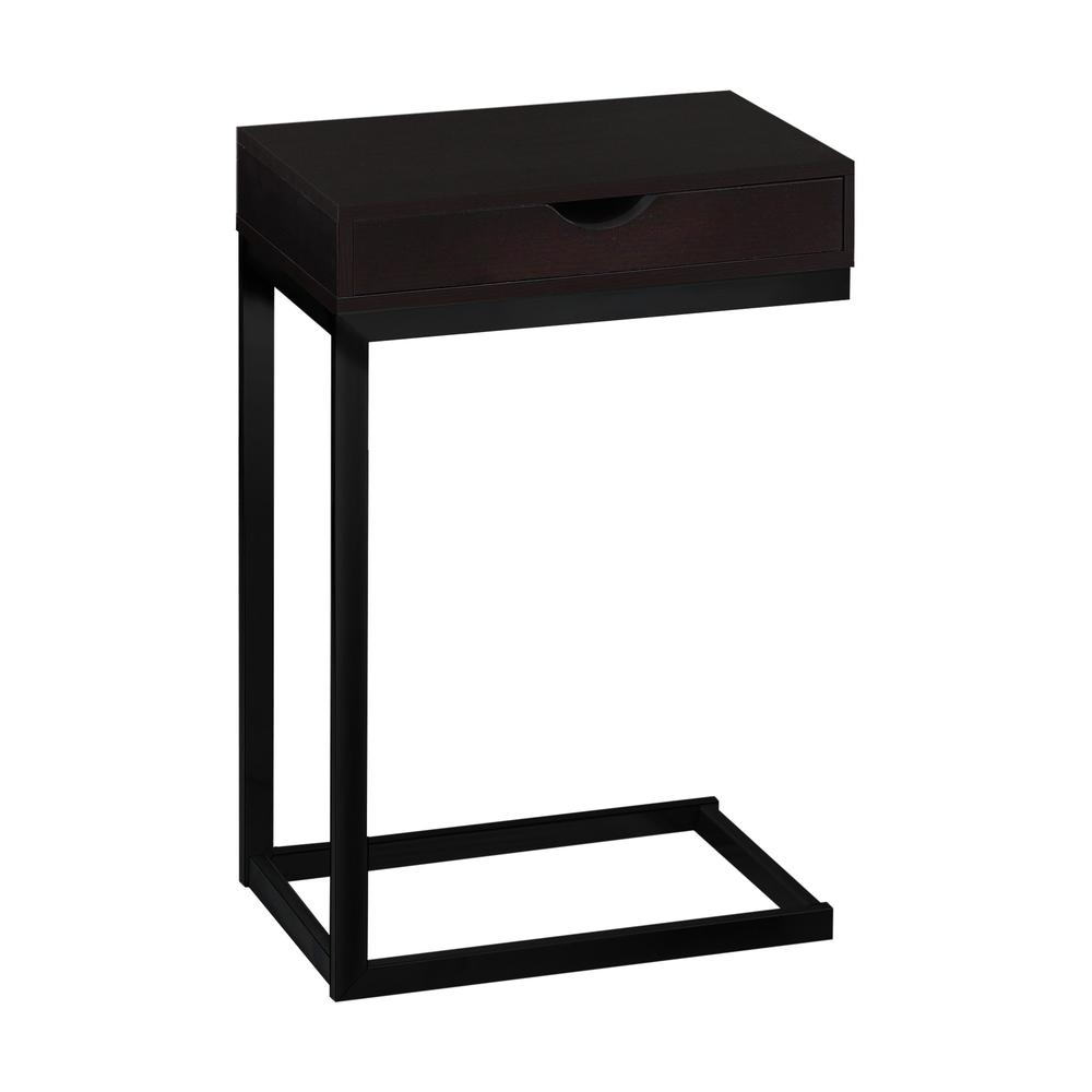 accent table cappuccino black metal with drawer pottery barn griffin laminate threshold mirrored furniture lucite dining room dark wood coffee drawers narrow bedside counter
