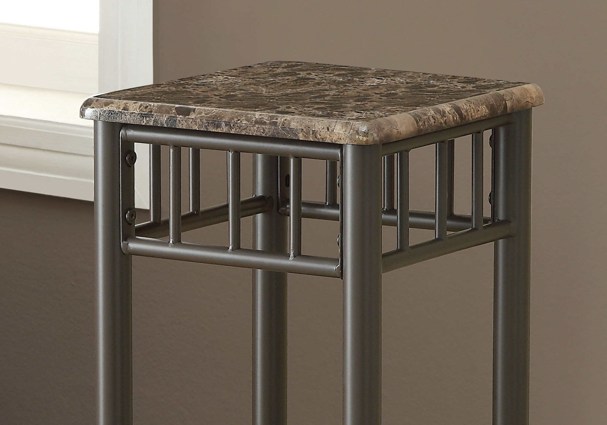 accent table cappuccino marble bronze metal tables monarch fern stand ashley furniture living room frame side contemporary wood small poolside slate end outdoor melbourne home