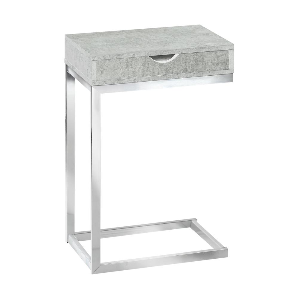 accent table chrome metal grey cement with drawer knox living room ornaments wood console cabinet vintage pub storage mahogany bedside tables patio sofa set clearance uttermost