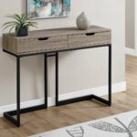 accent table dark taupe black hall console candace gray sofa and coffee sets solid wood round side nesting tables target gold glass set metal bedside for small room blue ceramic 150x150