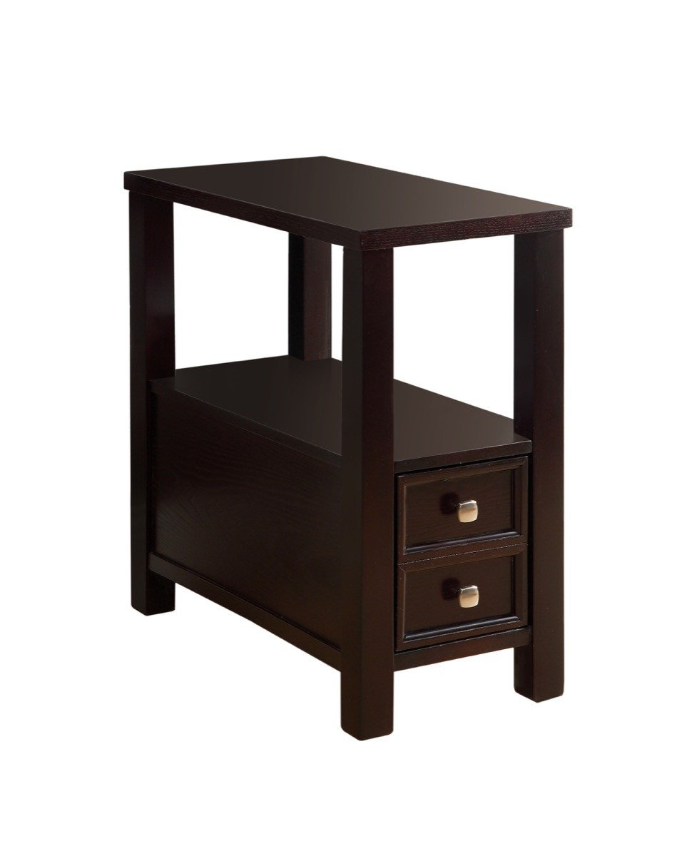 accent table drawer design ideas winsome daniel with black finish furniture america haster single espresso live edge wood beautiful centerpieces for dining room iron end monarch