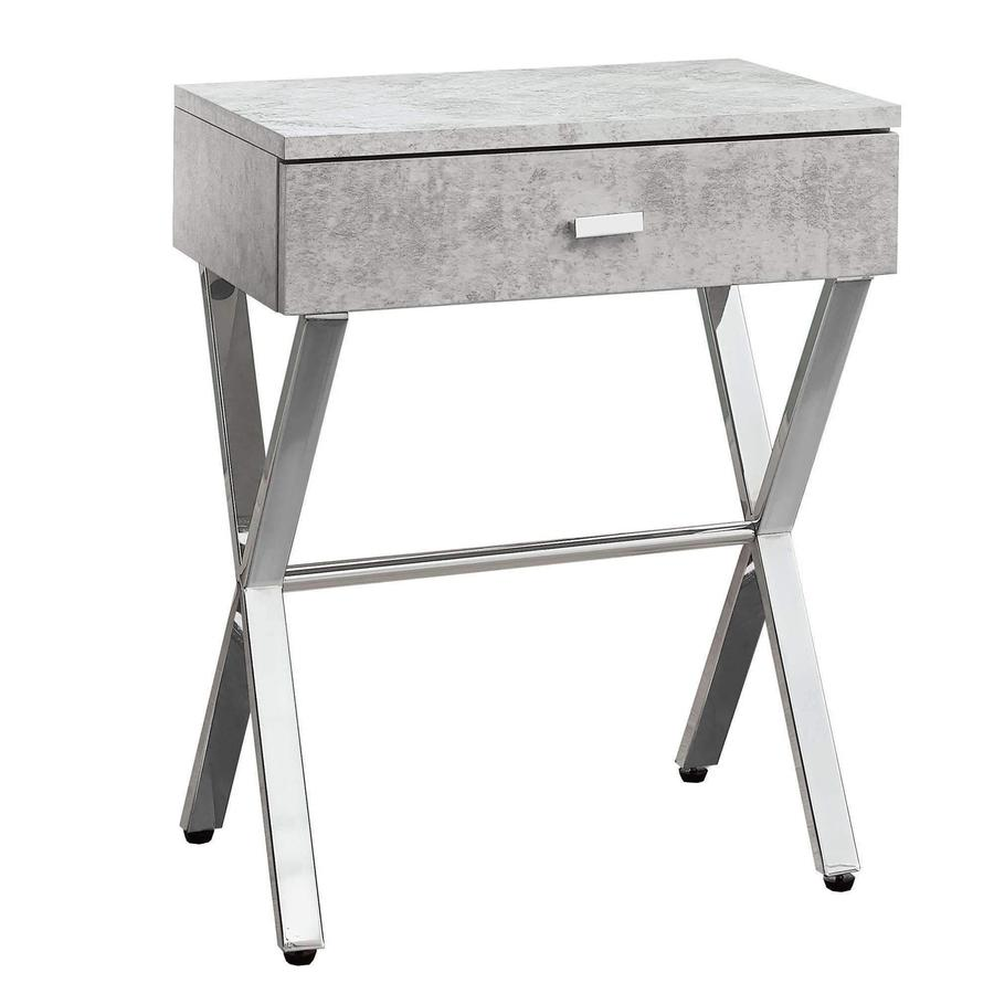 accent table grey cement chrome metal night stand lamporia unfinished furniture end wine cabinet round wood side console with shoe storage acacia coffee small nightstand steel