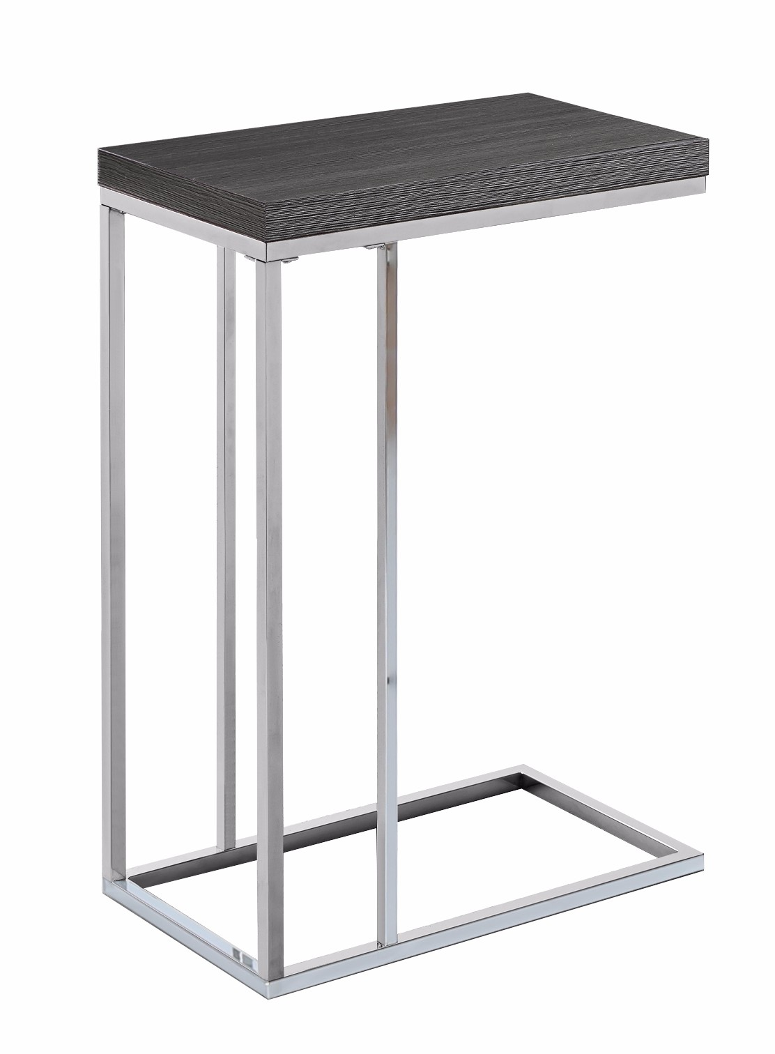 accent table grey chrome metal monarch specialty small diy large coffee cherry wood dining room furniture tiffany blue console lamps white sliding barn door extra side kitchen