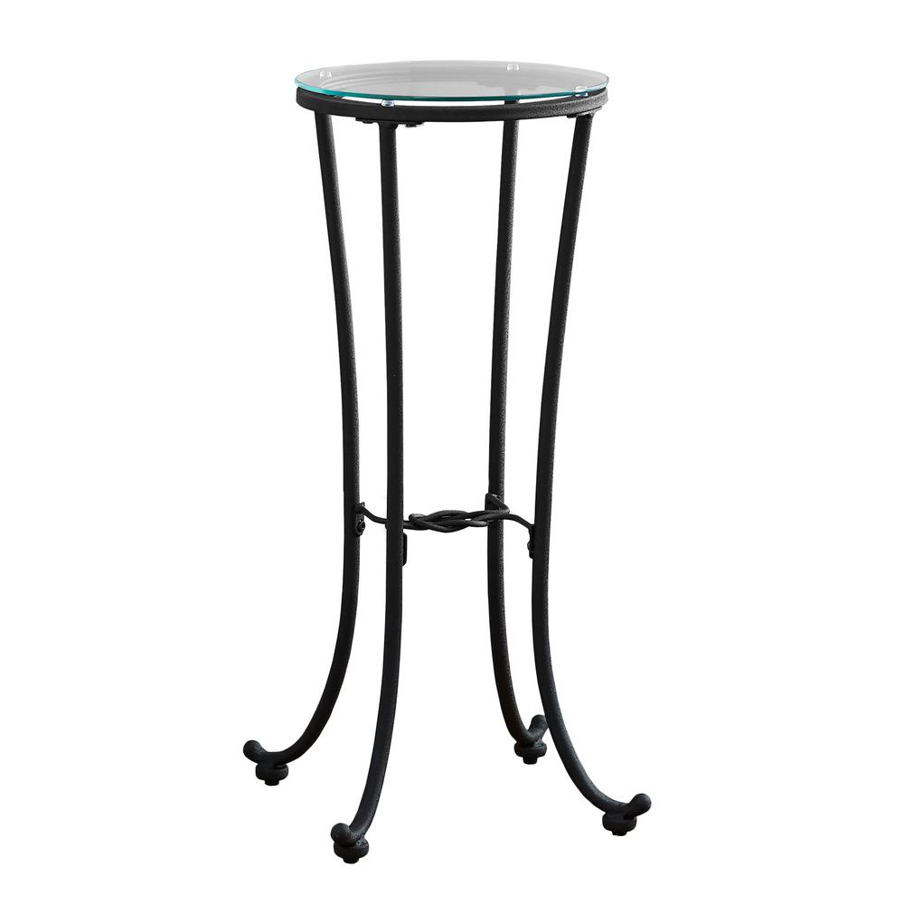 accent table hammered black metal with tempered glass pier round oak side white sofa target rugs ikea changing mattress set bedside tables end designs diy dining room and chair