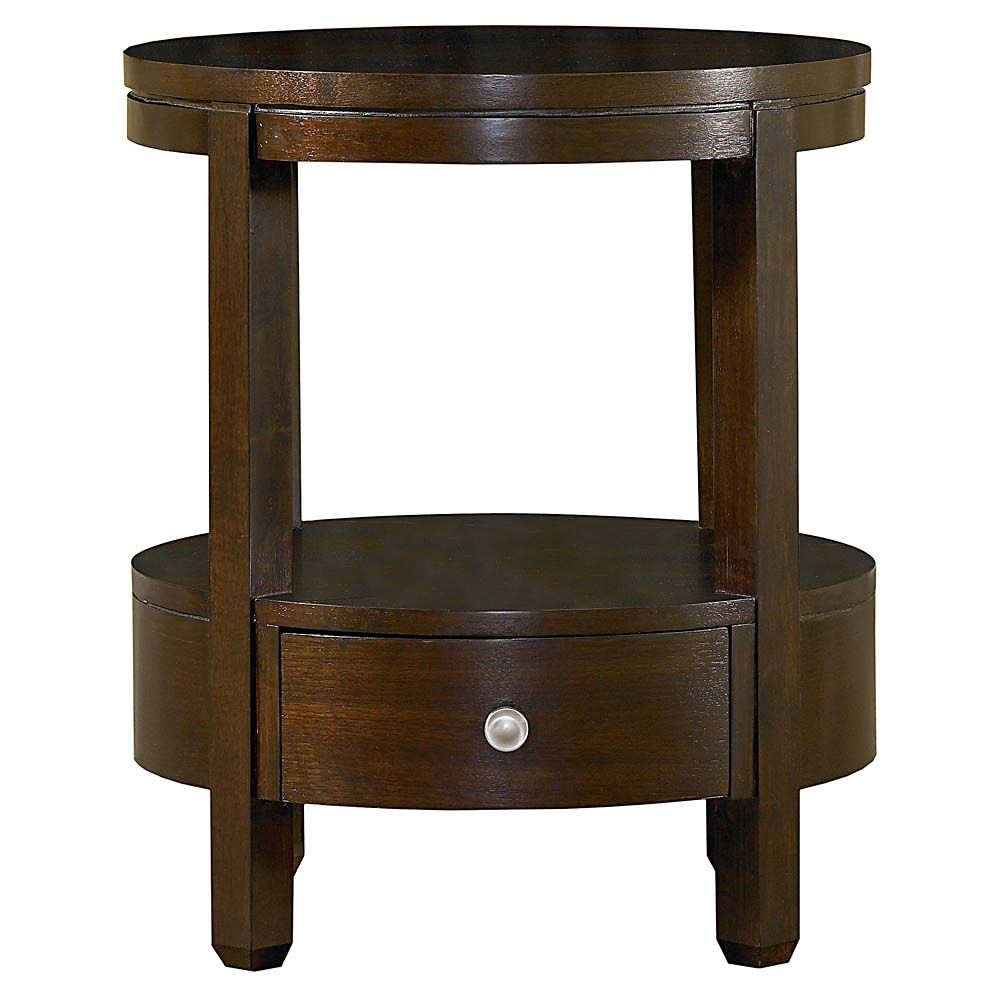 accent table home decor furniture tables and hardware small bassett redin park round with drawer cathedral walnut diameter high outside patio cover sofa lamps large circular