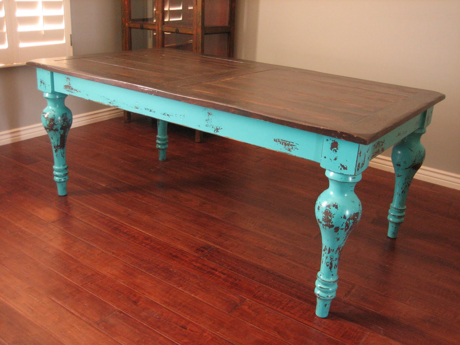 accent table ideas probably terrific best the rustic teal european paint finishes turquoise dining turquoisetable and before dresser end tall lamps target west elm chairs diy