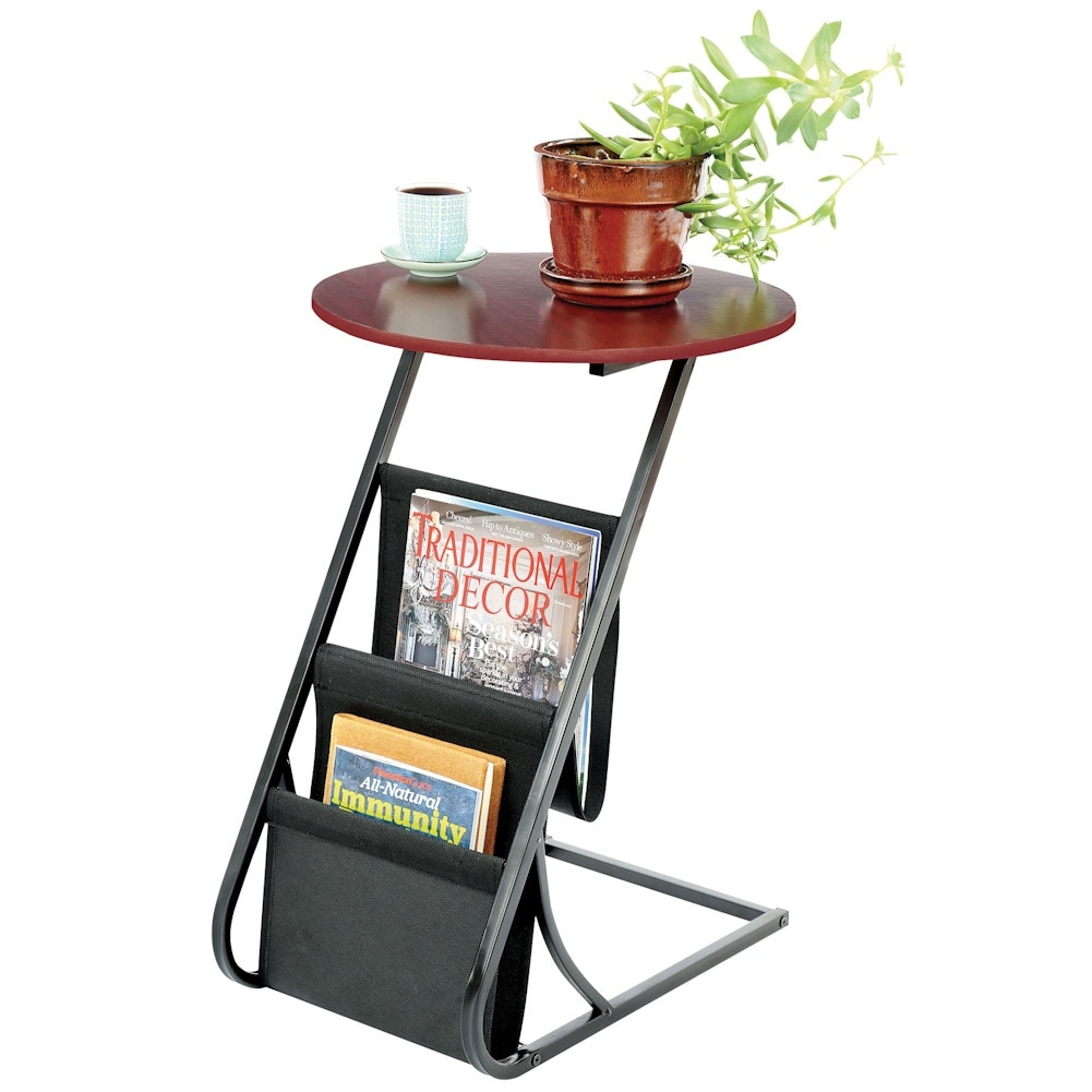 accent table living room office end with magazine rack tall round holder free shipping orders over hammered drum coffee corner furniture pieces asian style lamp shades vintage
