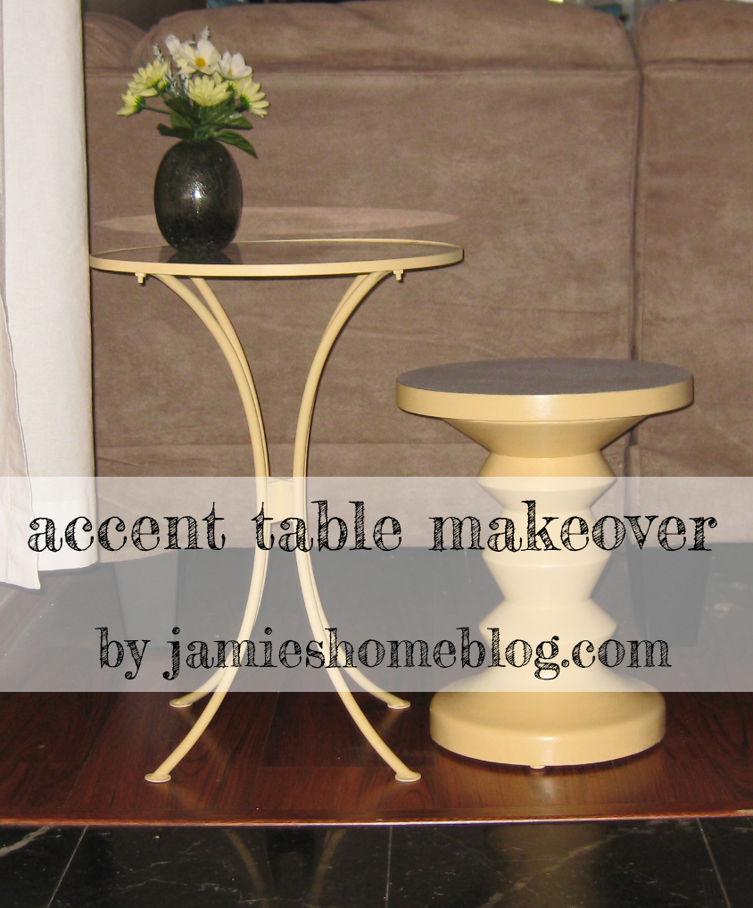 accent table makeover jamie home blog tables finished main diy small silver lamp mini tiffany style lamps mid century dining and chairs white resin wicker side hairpin legs ikea