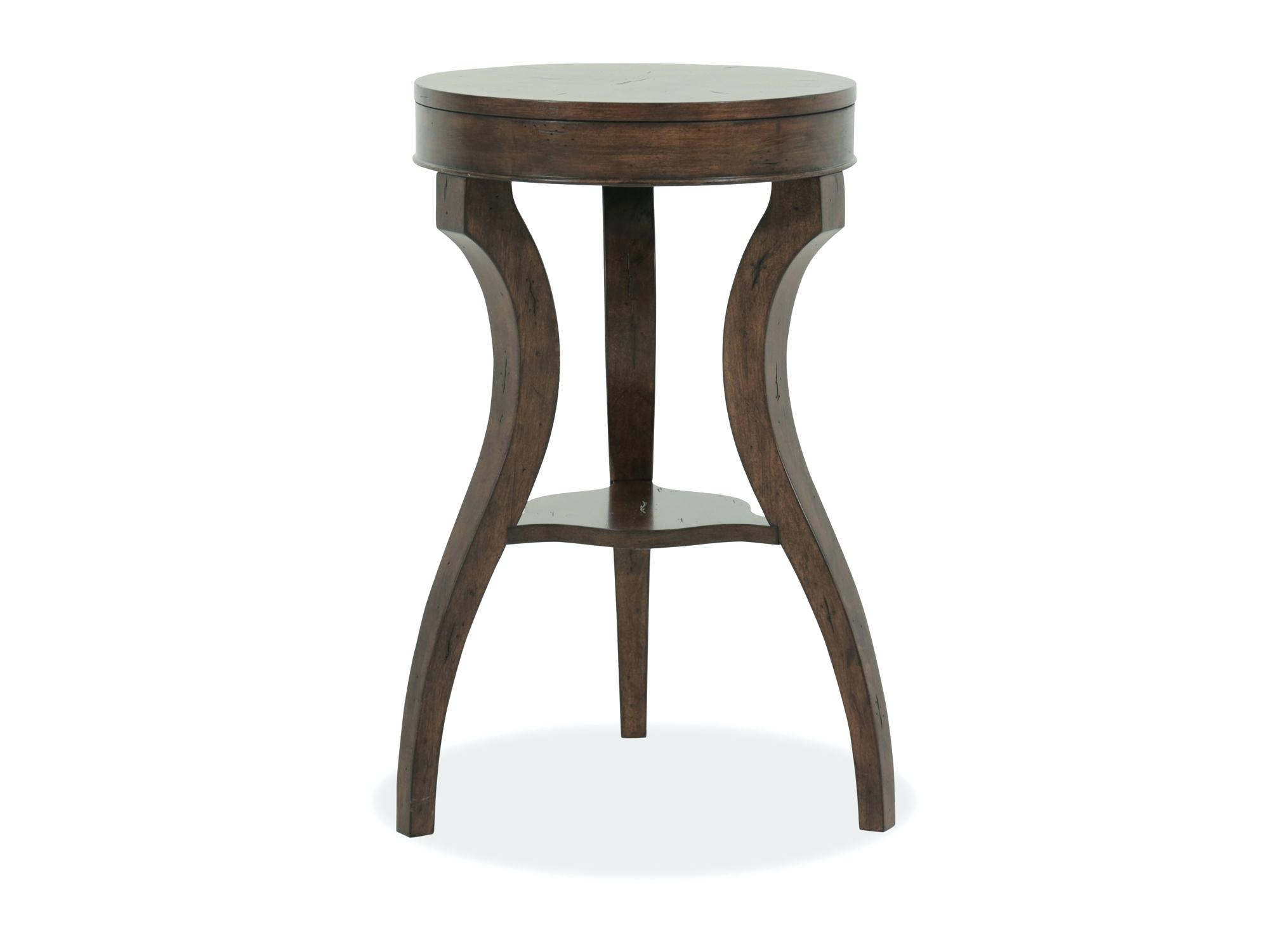 accent table metal and wood round faux target small kitchen unfinished avani mango drum top contemporary earthy brown scenic hook silver full size lawn furniture pier one
