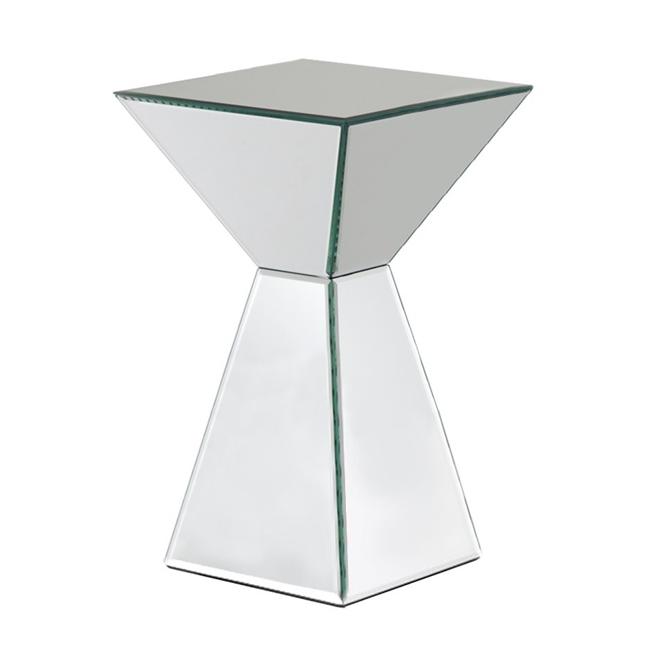 accent table mirrored pyramid living room side end mirage bathroom runner contemporary armchair folding snack clock stained glass floor lamp shades bunnings garden furniture door
