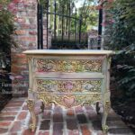 accent table painted boho nightstand gray gold pink purple img metal sold pier one nesting tables leadlight lamps couch feet wicker patio furniture narrow shelf behind silver 150x150