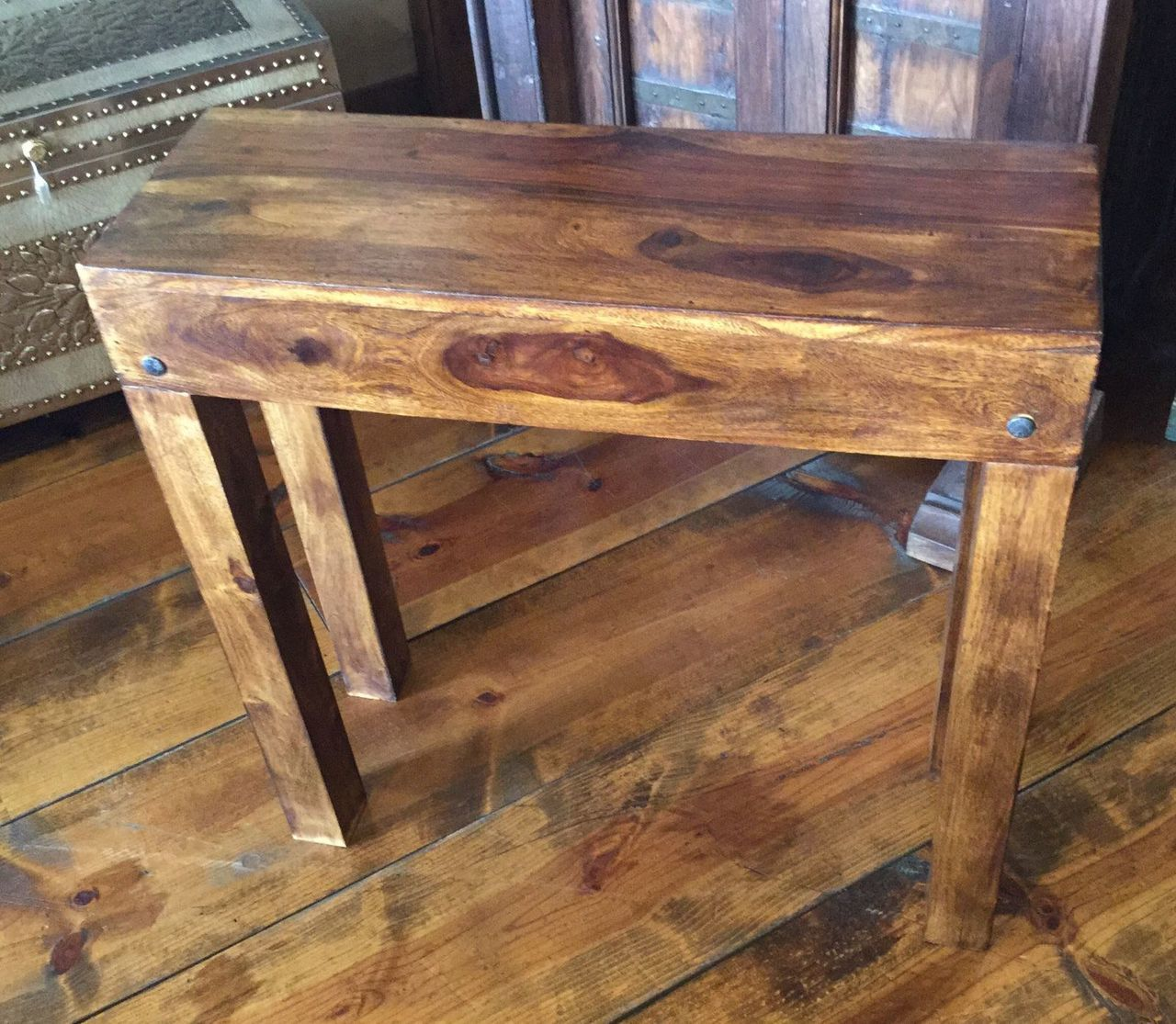 accent table rustic reclaimed hardwood narrow depth brown finish wood tables round tablecloth small barn door hardware dale tiffany floor lamp tall bar display coffee ikea side