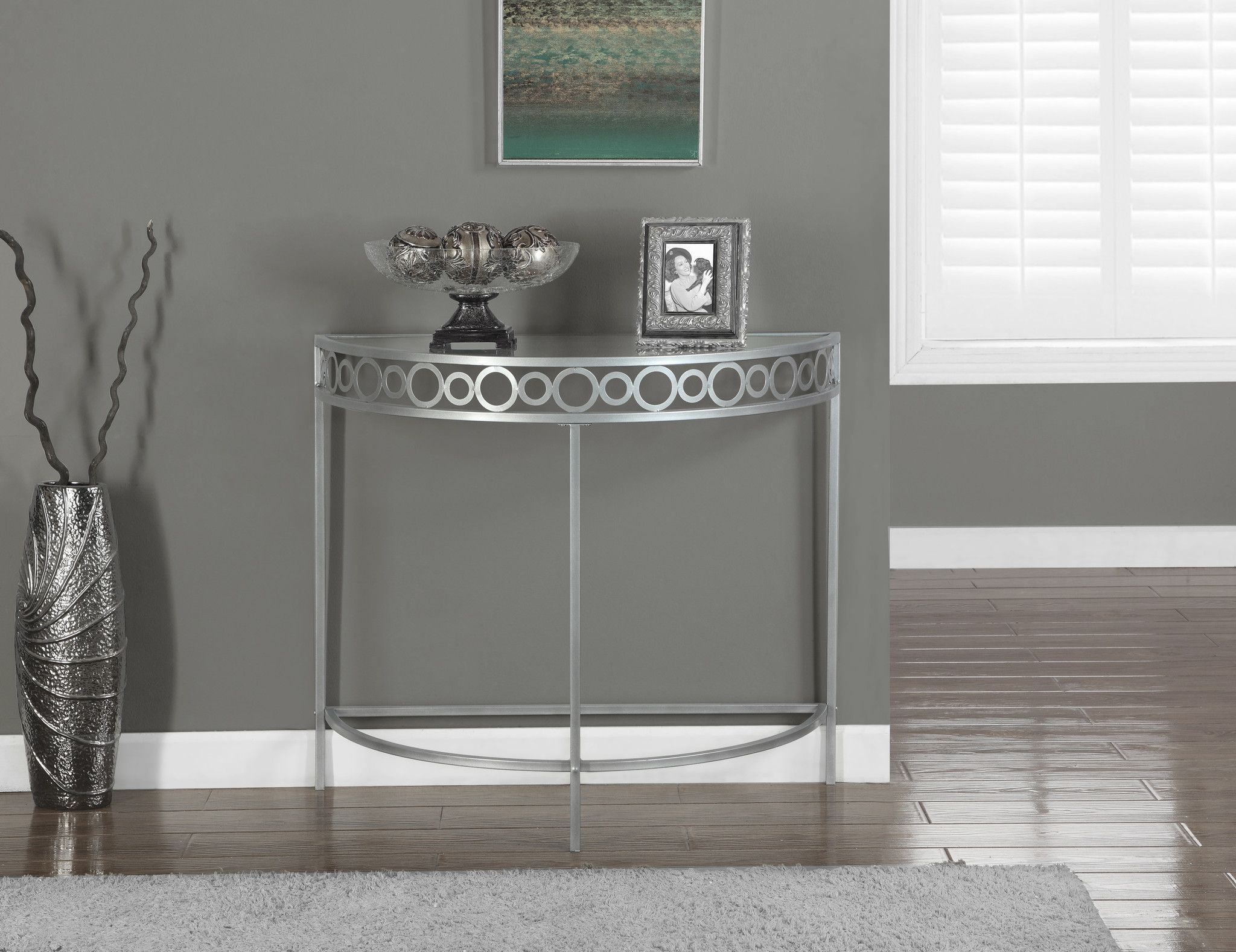 accent table silver metal hall console entryway pool umbrella stand end tables mahogany resin furniture outdoor gold coast coffee with drawers ikea tall small round livingroom