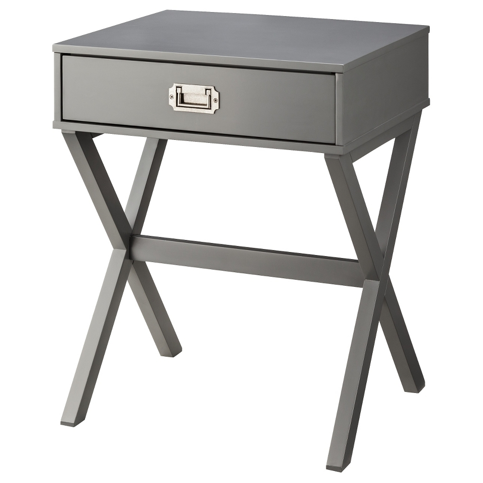 accent table threshold campaign side gray popscreen turned leg cordless bedside lights small nautical lamp shades dale tiffany leilani wisteria clearance furniture metal plant