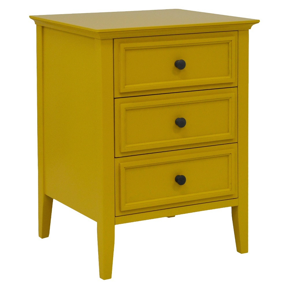 accent table threshold three drawer painted yellow mom target fretwork recycled wood furniture small low outdoor bedside tables glass pedestal side white oval coffee round garden