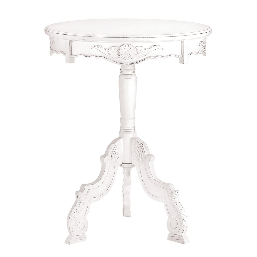 accent table white wooden rococo style vintage end tables living room round rustic fold dining queen anne drop leaf hobby lobby drawing long entry leg victorian parlor cabinet