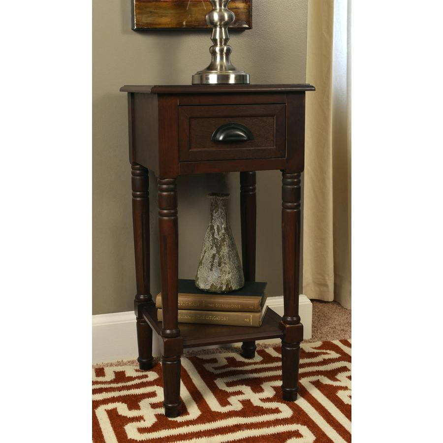accent table with drawer corner tables shelves threshold mirrored black wicker drawers tall storage small casters painted coffee floor lamp steamer trunk value ikea round lack